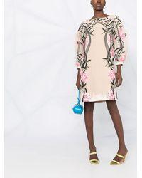 Alberta Ferretti Платье Из Тюля С Вышивкой - Многоцветный