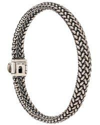 Ugo Cacciatori Pannier Woven Chain Bracelet - Metallic