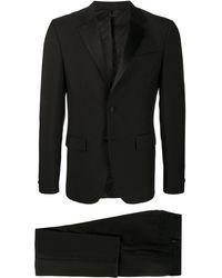 Givenchy サテンラペル スーツ - ブラック