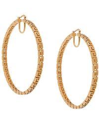Versace Серьги-кольца Grecamania - Металлик