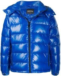 Duvetica Padded Hooded Jacket - Blue