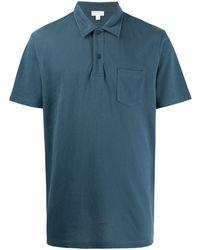 Sunspel Riviera ポロシャツ - ブルー