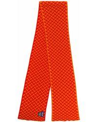 Drumohr Razor Blade Knitted Scarf - Orange