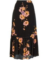 McQ - Floral Printed Skirt - Lyst