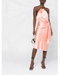 Liu Jo ホルターネック ドレス - ピンク