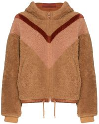 See By Chloé Omkeerbare Lammy Coat - Bruin