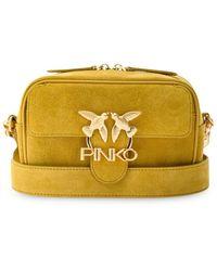 Pinko Сумка На Плечо С Металлическим Логотипом - Желтый