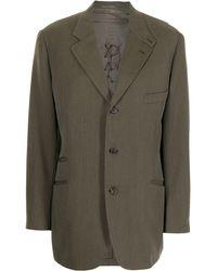 Hermès Blazer con revers a lancia Pre-owned - Verde