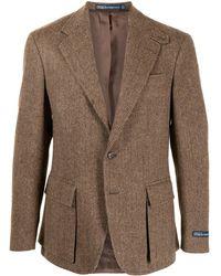 Polo Ralph Lauren ヘリンボーン ジャケット - ブラウン