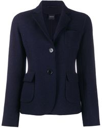 Aspesi Single-breasted Wool Blazer - Blue