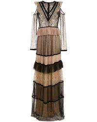 Olympiah - Flock Lace Long Dress - Lyst