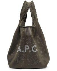 A.P.C. Сетчатая Сумка-тоут Rebound - Зеленый