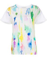 Être Cécile Paint Print T-shirt - White