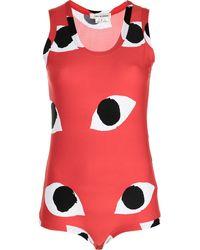 Comme des Garçons Eye-print Sleeveless Bodysuit - Red
