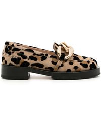 N°21 Leopard-print Chain-link Loafers - Brown