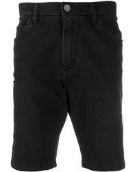 Dolce & Gabbana Knielange Jeans-Shorts - Schwarz