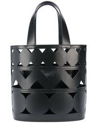 Casadei Laser Cut Bucket Bag - Black