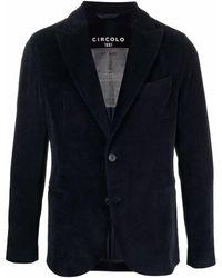 Circolo 1901 ベルベット シングルジャケット - ブルー