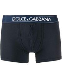 Dolce & Gabbana Bóxer con logo en la cinturilla - Azul