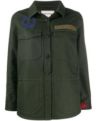 Zadig & Voltaire Camouflage-print Buttoned Overshirt - Green