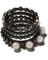Colette 18kt Zwart- En Witgouden Ring