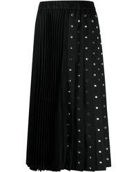 N°21 - ビジュートリム プリーツスカート - Lyst
