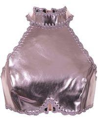 Alice McCALL Cool Cat Metallic Top - Pink