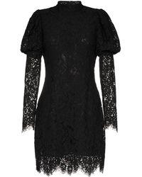 Ganni Vestido corto de encaje - Negro