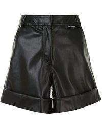 Karl Lagerfeld Faux Leather Shorts - Black