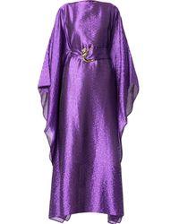 Taller Marmo Vestido de estilo túnica estampado - Morado