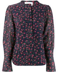 Chloé Beaded floral blouse - Blu