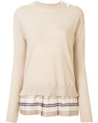 Louis Vuitton Джемпер С Плиссированным Подолом - Естественный