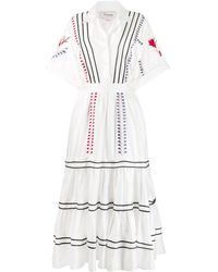 Temperley London Cherry Blossom Tiered Dress - White