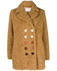 Marco De Vincenzo - Double Breasted Coat - Lyst