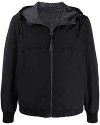 Ferragamo Zip-through Hooded Jacket - Black