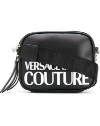 Versace Jeans ロゴ ショルダーバッグ - ブラック