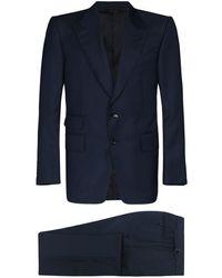 Tom Ford Einreihiger Anzug - Schwarz