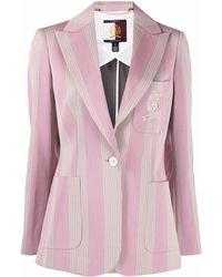 Tommy Hilfiger ストライプ シングルジャケット - ピンク