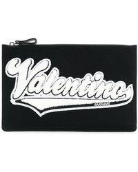 Valentino - Garavani Logo Patch Clutch - Lyst