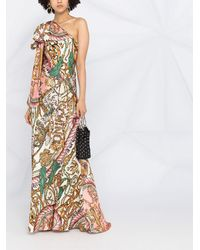 Moschino Платье На Одно Плечо С Принтом - Многоцветный