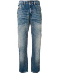 DIESEL D-aygle Jeans Met Taps Toelopende Pijpen - Blauw
