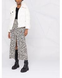 Pinko クロップド パデッドジャケット - ホワイト