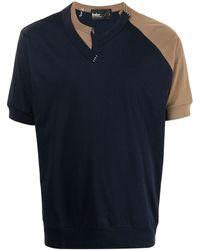 Kolor Asymmetric-panel T-shirt - Blue