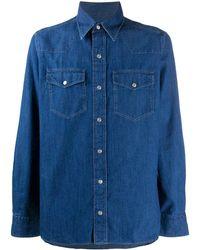 Tom Ford ロングスリーブ デニムシャツ - ブルー