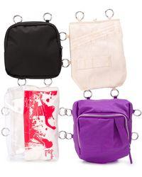 Raf Simons Loop Garden pocket bag - Noir