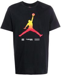 Nike T-shirt Met Print - Zwart