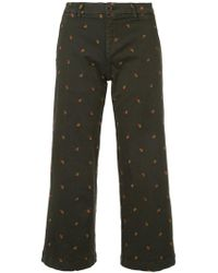 P.A.R.O.S.H. | Cropped Embroidered Jeans | Lyst