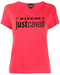 Just Cavalli Warning Tシャツ - レッド