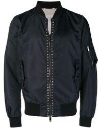 Valentino Rockstud Untitled Bomber Jacket - Синий
