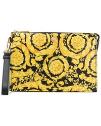 Versace - Pouch Barocco con stampa - Lyst